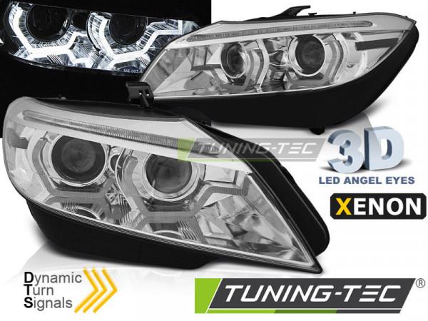 Xenon Headlights Led Drl Chrome Afs Seq Fits Bmw Z4 E89 09-13