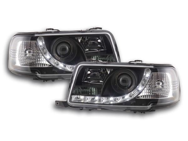 Daylight headlight Audi 80 type B4 Yr. 91-94 black