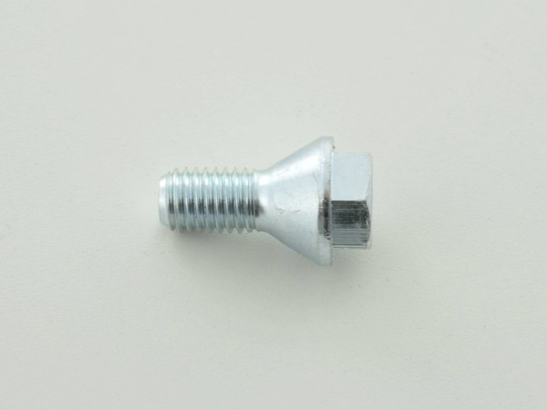 Wheel bolt, M12 x 1,75 21mm short head silver