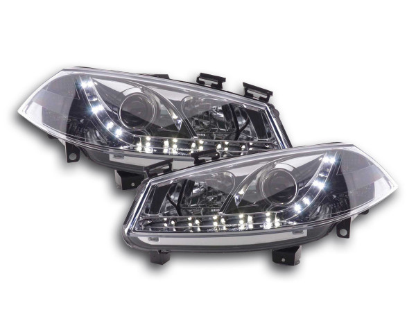 headlight Daylight Ford Fiesta Typ MK6 Yr. 03-07 chrome