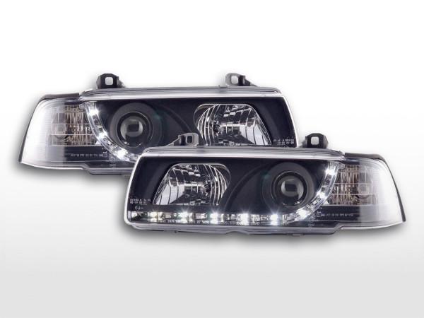 Daylight headlight BMW serie 3 saloon type E36 Yr. 92-98 black