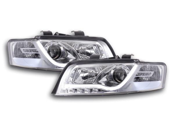 Daylight headlight Set Audi A4 type 8E Yr. 01-04 chrome RHD