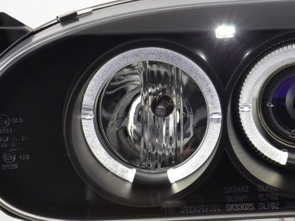 headlight VW Golf 3 type 1HXO 1 EXO Yr. 91-97 black