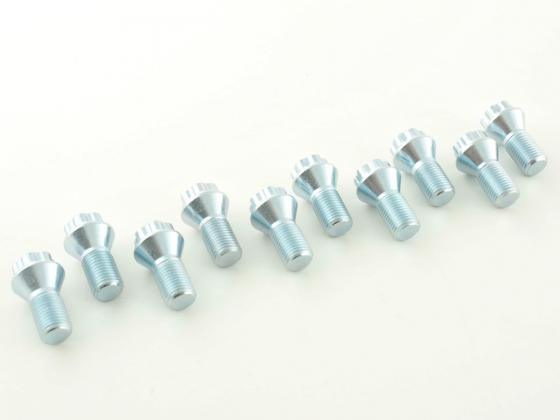 Wheel bolts Set bolt circle-Adapter (10 pieces), M12 x 1,25 21 domed