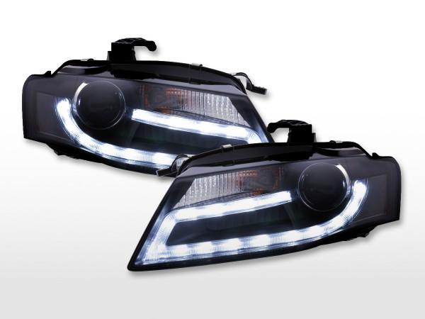 Daytime running lights headlight Xenon Daylight Audi A4 B8 8K Yr. 07-11 black