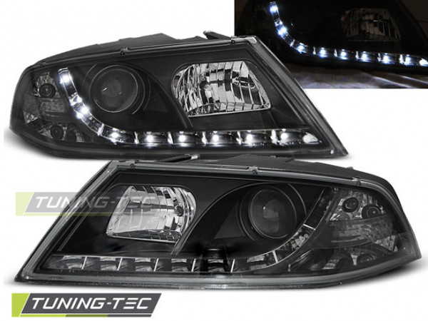 Xenon Headlights Daylight Black Fits Skoda Octavia 2 03.04- 08