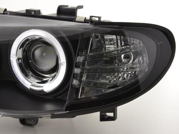 Headlight BMW serie 3 E46 saloon/Touring Yr. 02-05 black RHD