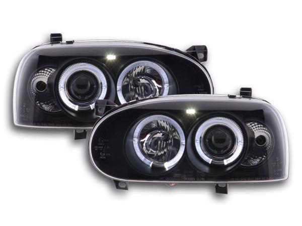 headlight VW Golf 3 type 1HXO 1 EXO Yr. 91-97 black