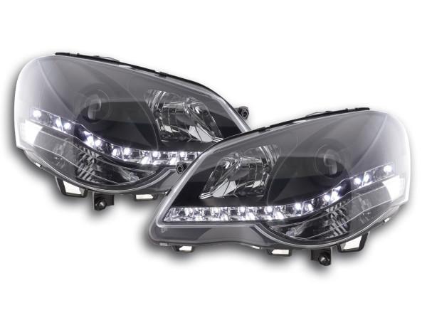 Daylight headlight VW Polo type 9N3 Yr. 05-09 black RHD