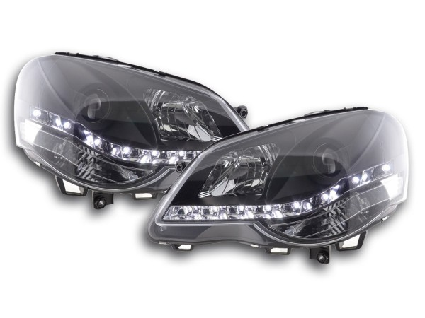 Daylight headlight VW Polo type 9N3 Yr. 05-09 black RHD