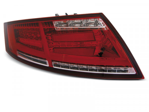 Led Bar Tail Lights Red Whie Fits Audi Tt 04.06-02.14