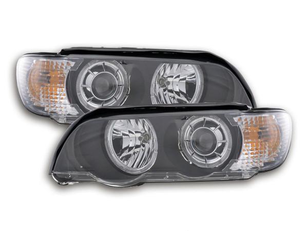 Angel Eye headlight BMW X5 E53 black Xenon