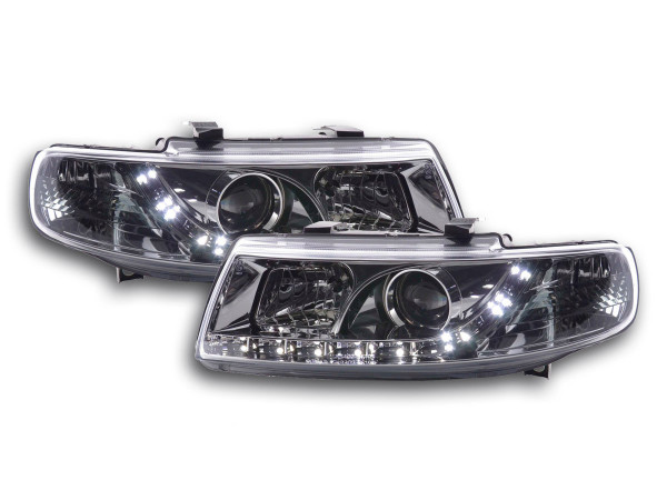 Daylight headlight Seat Leon type 1M Yr. 99-05 chrome