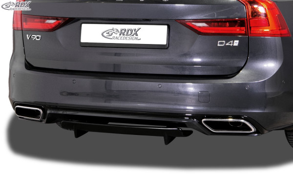RDX Rear Diffusor U-Diff XL for VOLVO V90 / S90 R-Design (2016+)