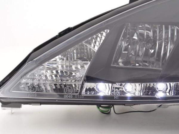 Daylight headlight Ford Focus 3/4/5-Dr. Yr. 01-04 black RHD
