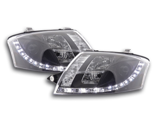 Daylight headlight Audi TT type 8N Yr. 99-06 black RHD