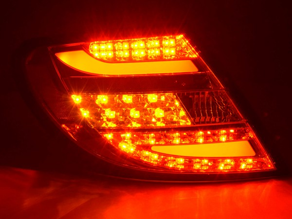 Rear lights Set LED Mercedes C-Class type W204 Yr. 2011- chrome