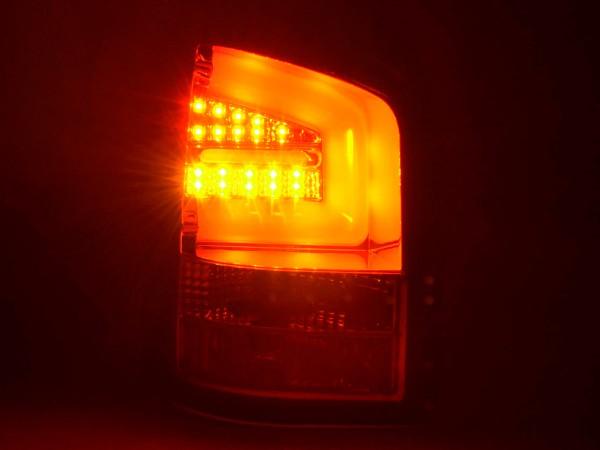 Taillights Set LED VW T5 Yr. 03-10 chrome