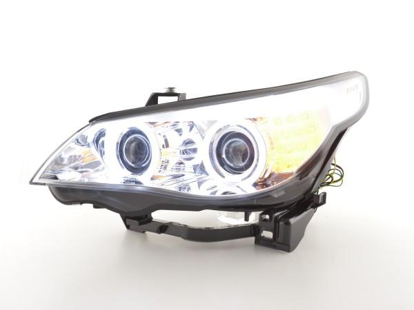 Headlight Angel Eyes CCFL Xenon BMW serie 5 E60/E61 Yr. 03-04 chrome RHD