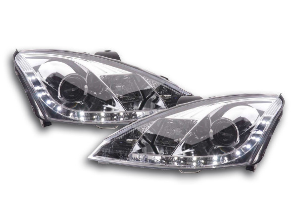 Daylight headlight Ford Focus 3/4/5-door. Yr. 01-04 chrome