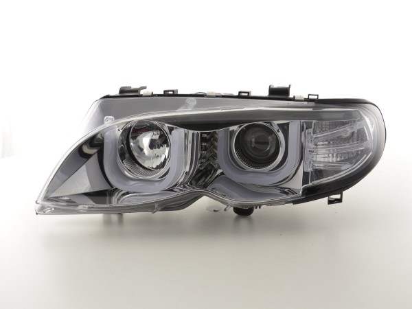 Angel Eye headlight BMW serie 3 E46 saloon/Touring Yr. 02-05 chrome