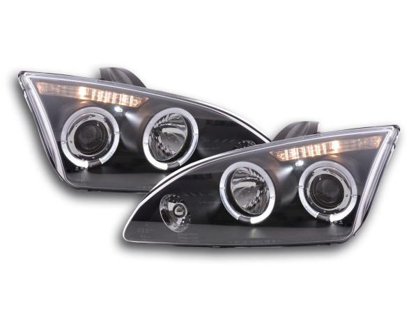 Angel Eye headlight Ford Focus 2 Yr. 05-08 black