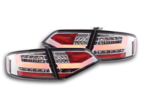 Led Taillights Audi A4 B8 8K saloon Yr. 07-11 chrome