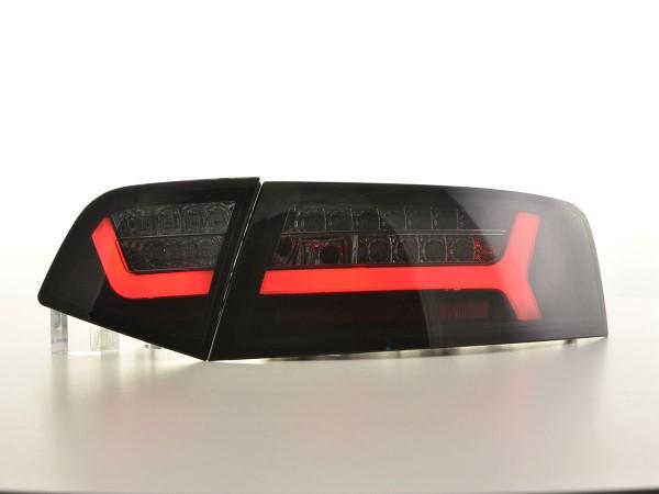 LED rear lights Lightbar Audi A6 4F saloon year 08-11 black/smoke