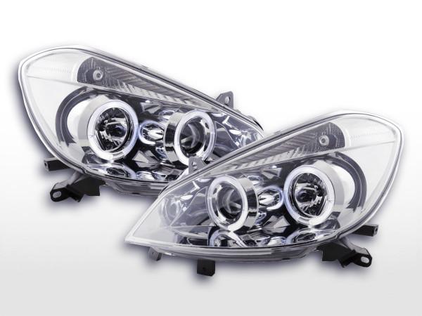 Headlight Renault Clio Typ R Yr. 05- chrome RHD