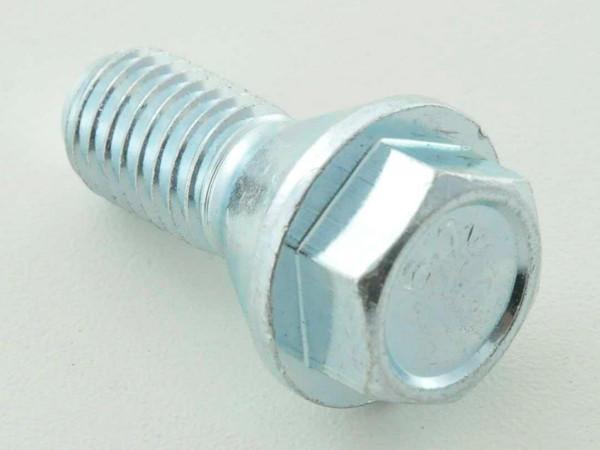 Wheel bolt, M14 x 1,5 26mm short head silver