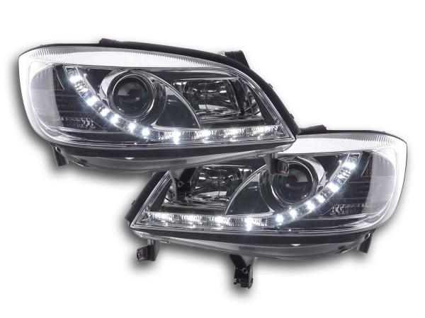 Daylight headlight Opel Zafira A Yr. 99-04 chrome