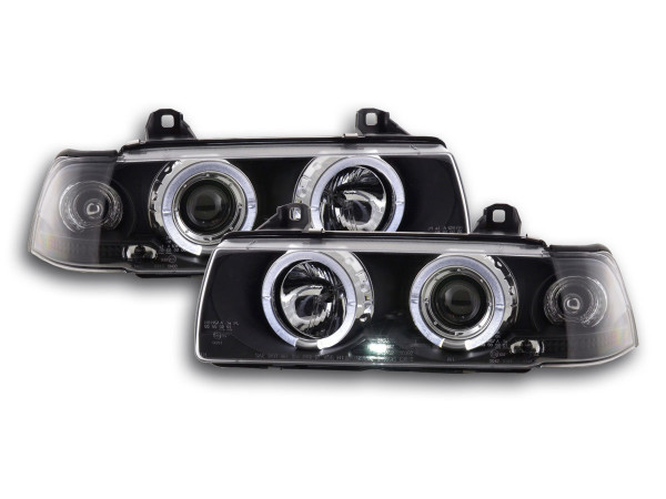 headlight BMW serie 3 saloon type E36 Yr. 92-98 black