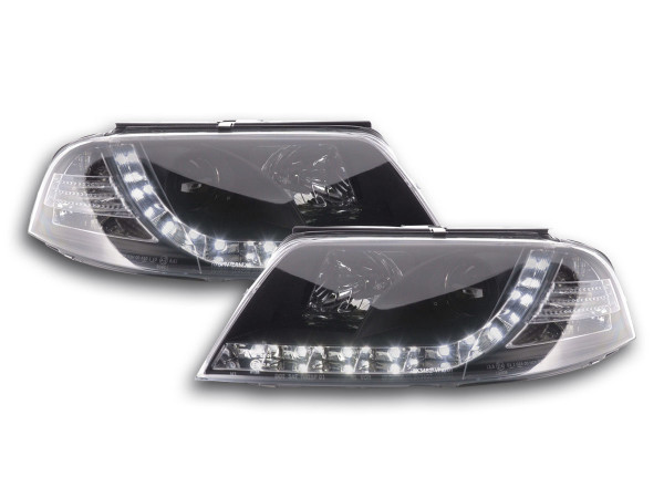 Daylight headlight VW Passat type 3BG Yr. 00-05 black