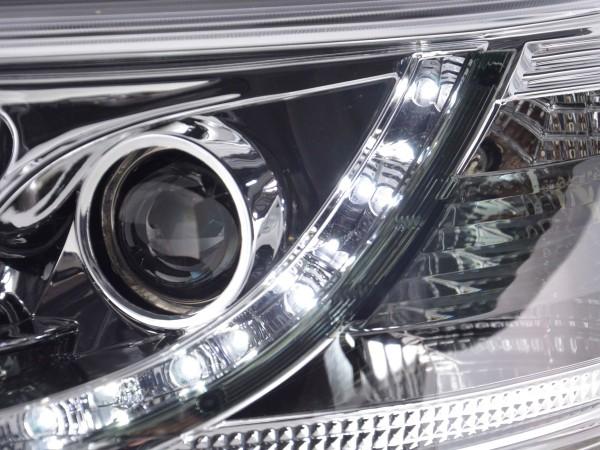 Daylight headlight VW Bus type T5 Yr. 03-09 chrome