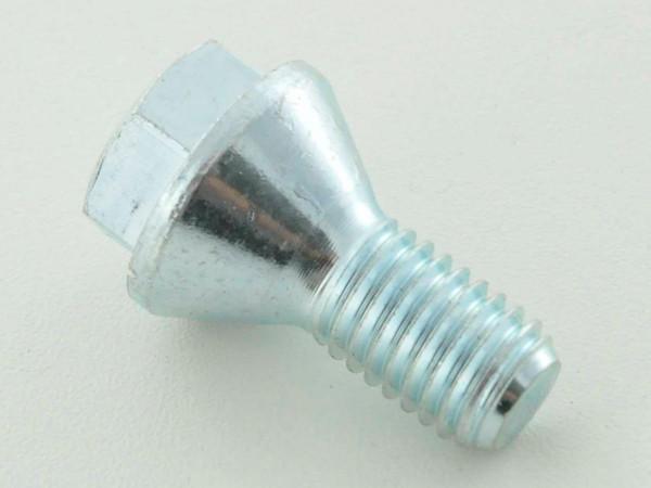 Wheel bolt, M12 x 1,25 22mm short head silver