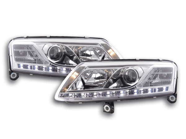 Daylight headlight Audi A6 type 4F Yr. 04-08 chrome RHD