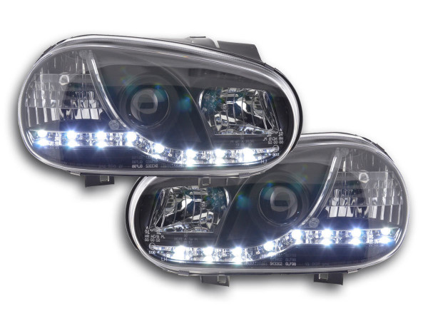 Daylight headlight VW Golf 4 type 1J Yr. 98-03 black RHD