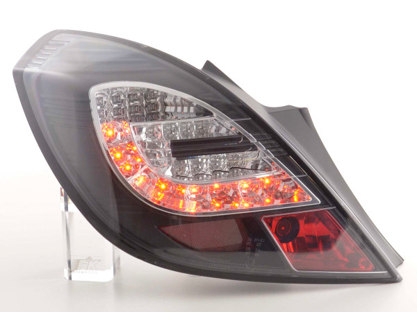 Led Taillights Opel Corsa D 3-dr Yr. 06-10 black