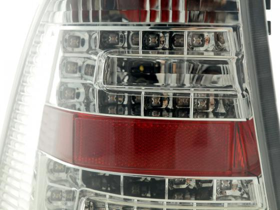 Led Taillights Mercedes M-Class type W163 Yr. 98-05 chrome