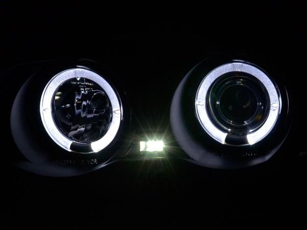 headlight BMW serie 3 saloon type E46 Yr. 98-01 black