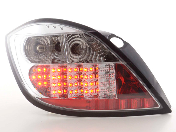 Led Taillights Opel Astra H 5-dr Yr. 04- chrome