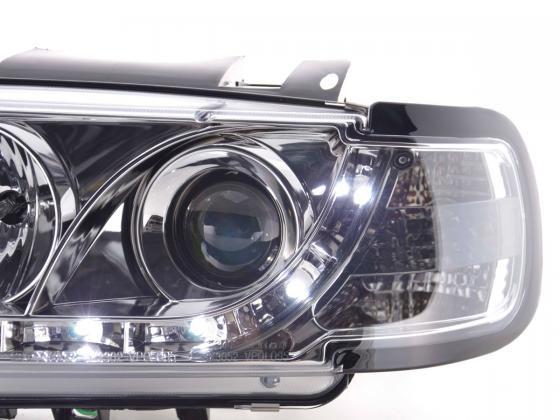Daylight headlight VW Polo type 6N Yr. 94-99 chrome