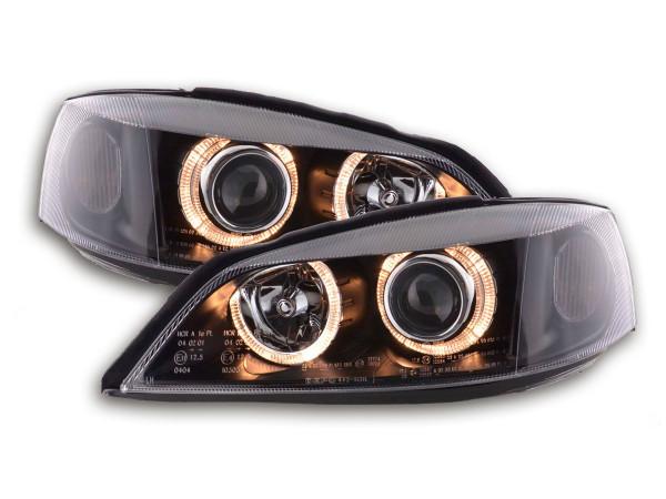 Angel Eye headlight Opel Astra G Yr. 98-03 black