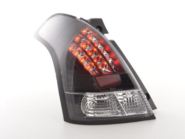Led Taillights Suzuki Swift type MZ Yr. 05- clear/black