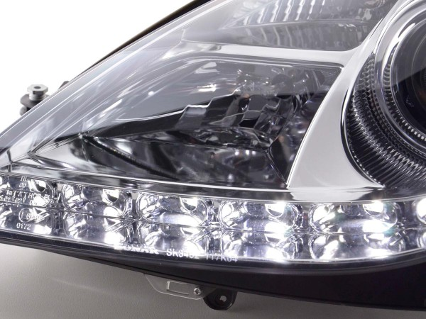 Daylight headlight Mercedes SLK R171 Yr. 04-11 chrome