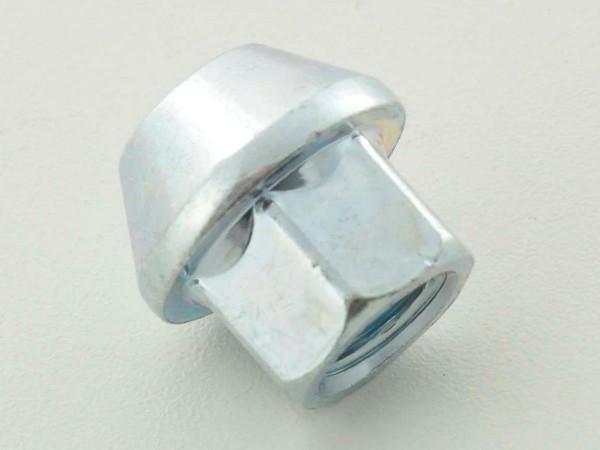 single Wheel nut length 34mm taper flange M12x1,75 silver