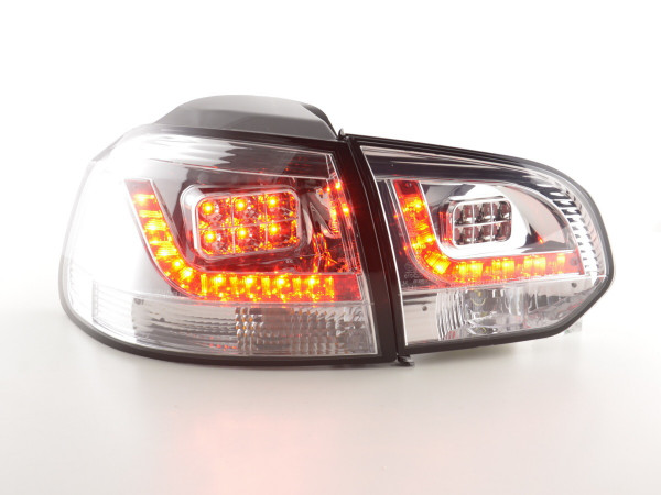 Led Taillights VW Golf 6 type 1K Yr. 2008-2012 chrome