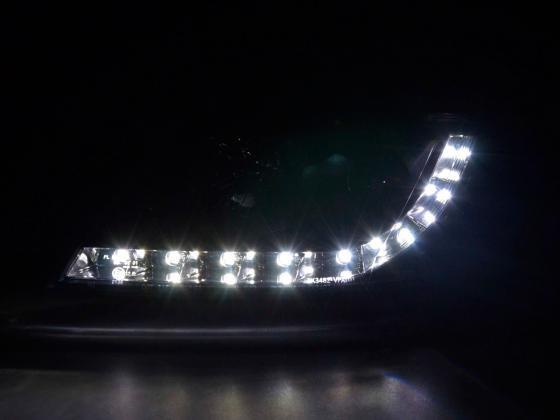 Led Per Auto Tuning.Daylight Headlights With Led Drl Look Vw Passat Type 3bg Yr 00 05 Black