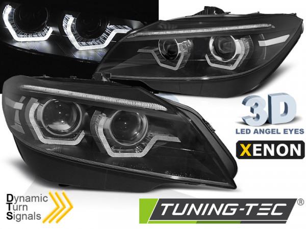 Xenon Headlights Led Drl Black Seq Fits Bmw Z4 E89 09-13