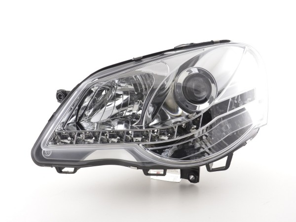 Daylight headlight VW Polo type 9N3 Yr. 05-09 chrome RHD